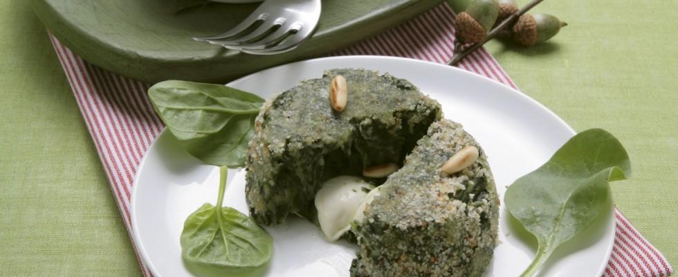 Flan di spinaci agrodolce for Cucinare spinaci