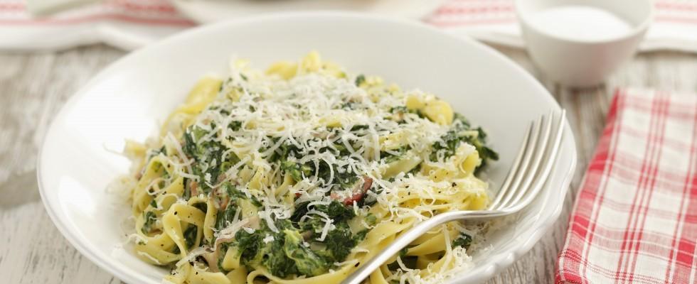 Pasta con spinaci e ricotta
