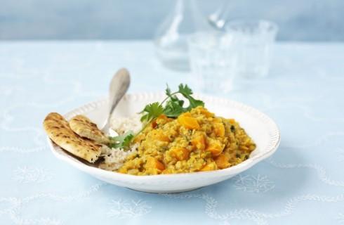 Riso al curry con carote
