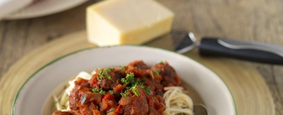 Spaghetti con polpette: ricetta americana