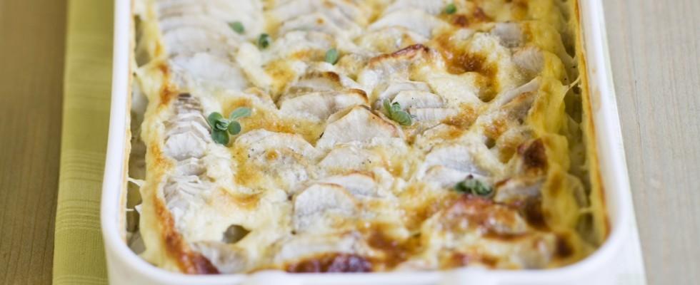 Topinambur al forno con besciamella