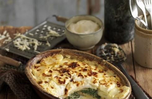 Tortino di patate e spinaci senza uova