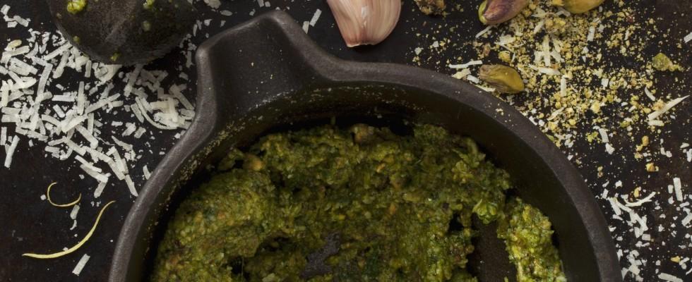 Dalla Sicilia: pesto di pistacchi