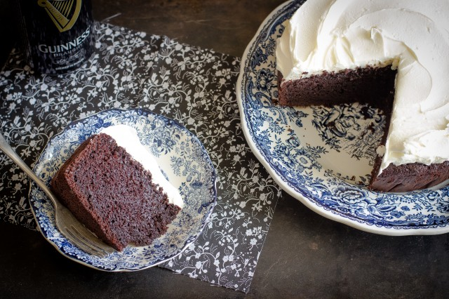 Still life guinness cake