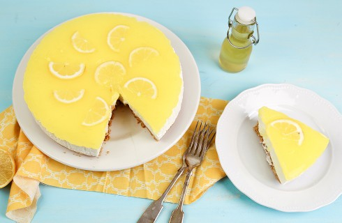 Cheesecake al limone con yogurt