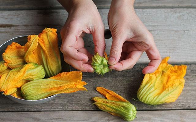 fiori di zucca al forno step(1)