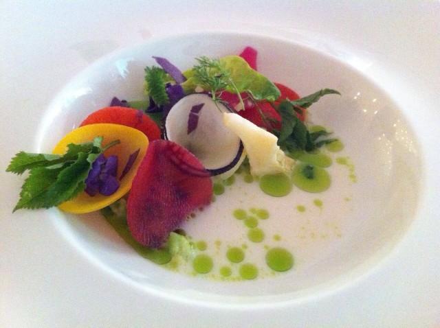 Lo splendido piatto di Sang Hoon Degeimbre