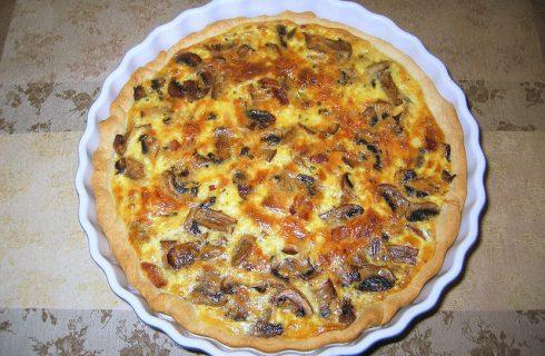 La quiche ai funghi e porri con la ricetta facile