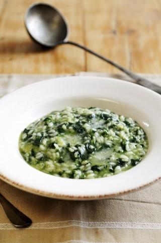 Risotto con spinaci e parmigiano