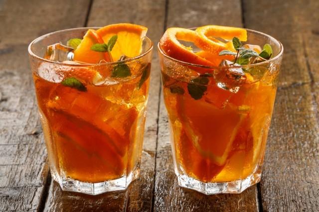 tè freddo aromatizzato