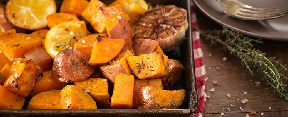 Patate dolci al forno, contorno vegetariano