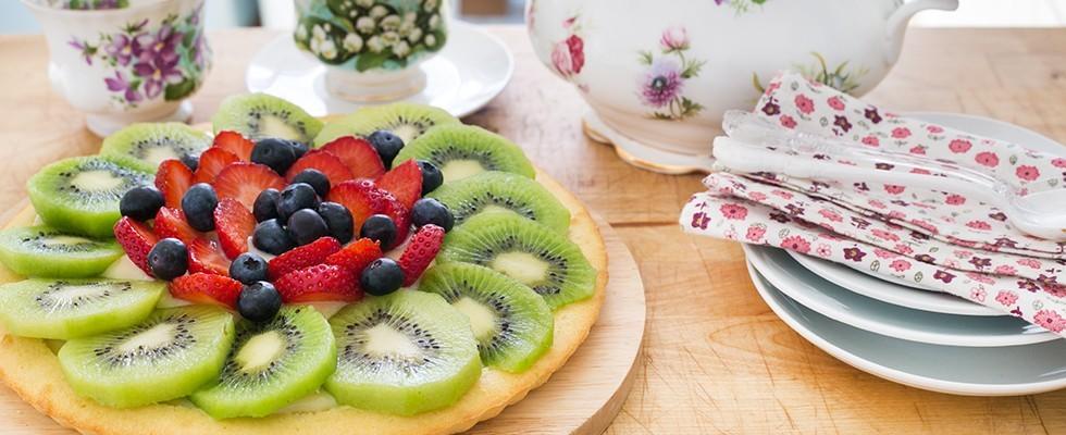 Torta californiana alla frutta