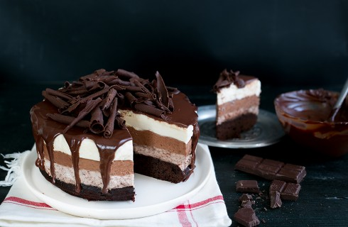 Torta mousse al cioccolato: ricca