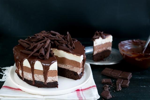 still life Torta mousse al cioccolato