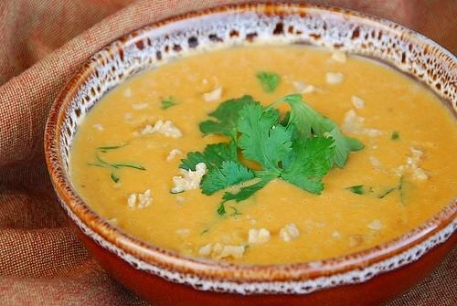 vellutata patate e burro di arachidi