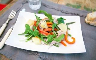 Insalata di coniglio, fresca e semplice da preparare