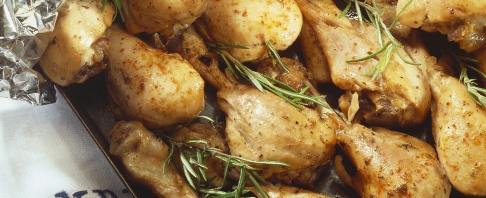 Cosce di pollo alla birra al forno