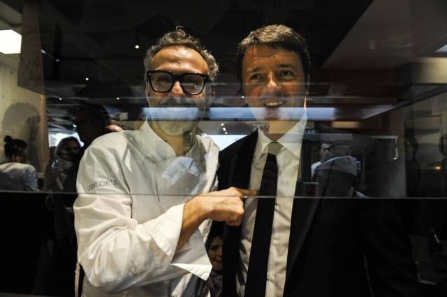 Massimo Bottura e Matteo Renzi