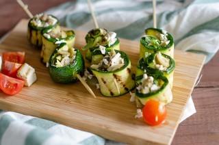 Involtini di zucchine e tofu: antipasto vegan