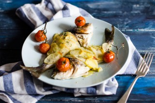 Orata in crosta di patate, secondo di pesce