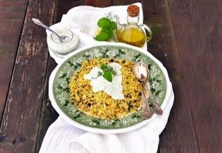Cous cous vegetariano con salsa di yogurt
