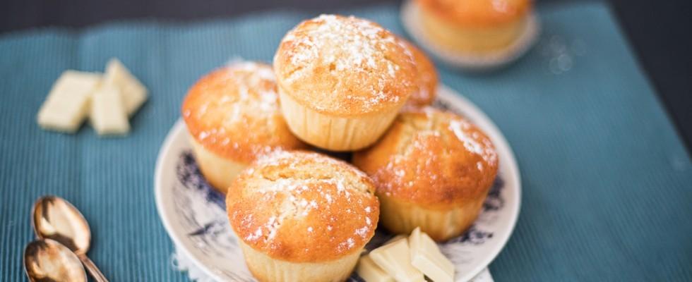 Muffin al cioccolato bianco: perfetti per la merenda