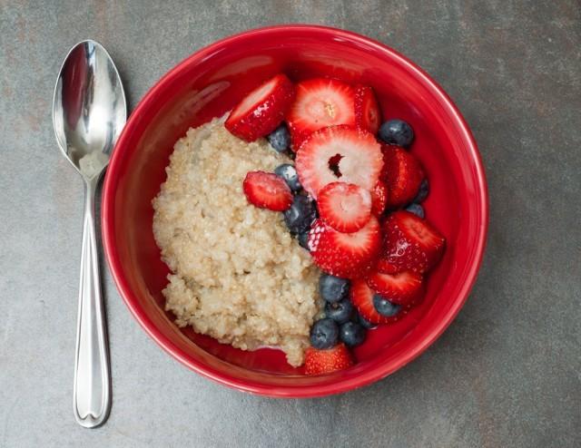 quinoa e frutta