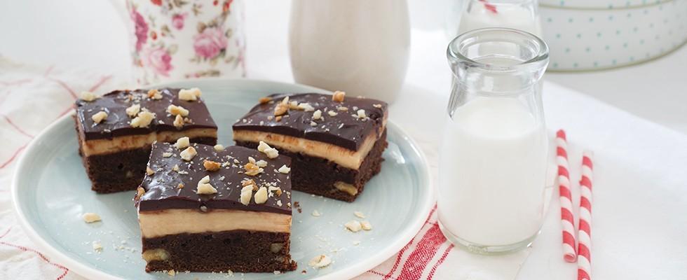 Brownies al cappuccino: perfetti per la merenda