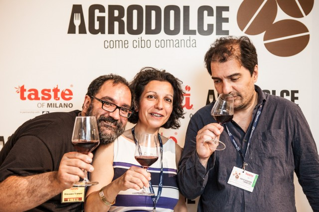 Giovanni, Carla e Paolo Trimani, dell'Enoteca storica di Roma, partner di tutti i Taste Festival italiani.