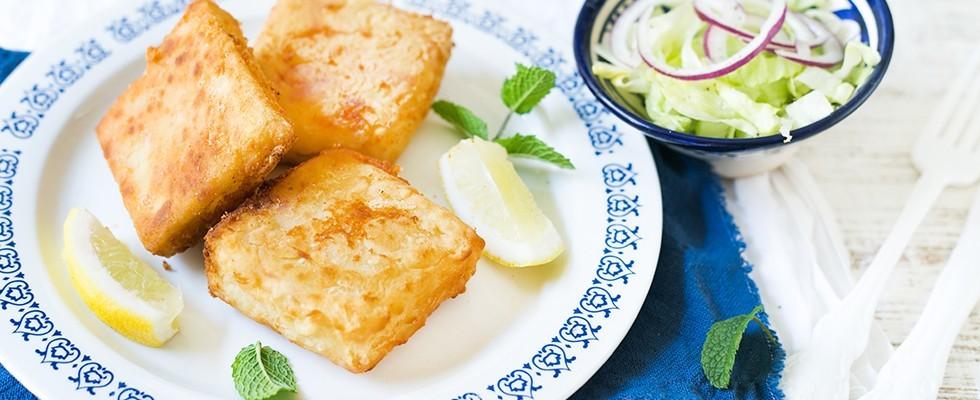 Formaggio fritto alla greca: Saganaki