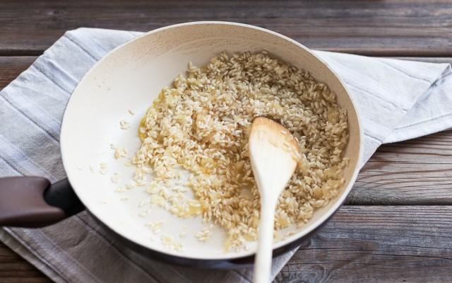 risotto con scarola mandarino e branzino (3)