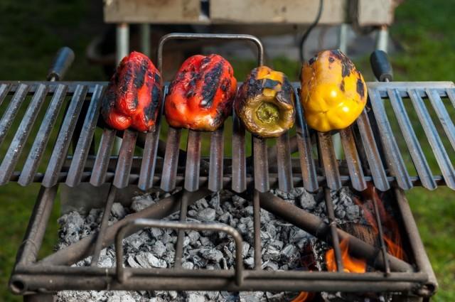 peperoni sulla griglia