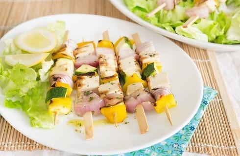 Spiedini di tofu e verdure alla griglia