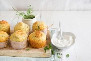 Muffin alle erbette con yogurt greco