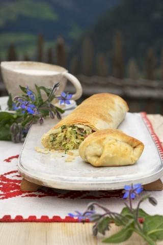 Strudel di zucchine e pancetta