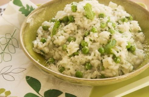 Risotto con piselli: ricetta vegetariana