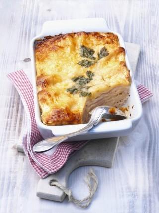Lasagne con prosciutto e formaggio