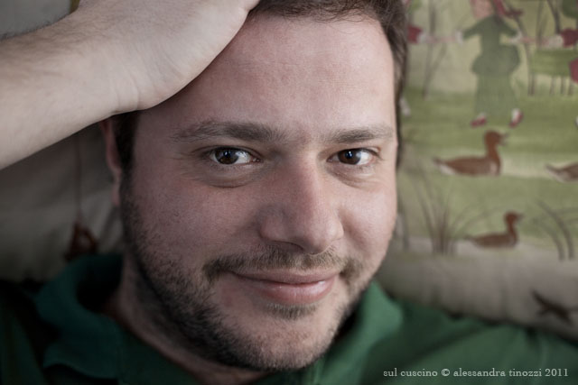 Marco Bolasco sul cuscino © Alessandra Tinozzi