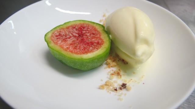 Fico e gelato alle foglie di fico - Bertrand Grebaut