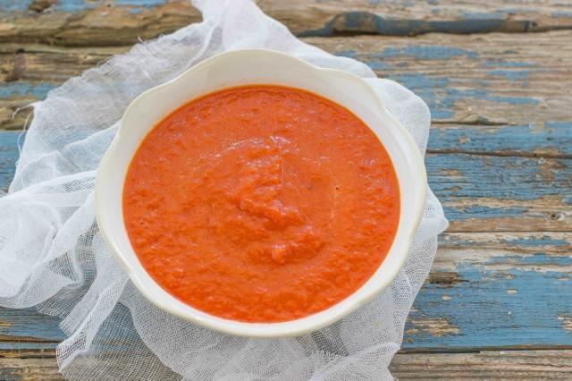 Step 1 pasta con crema di peperoni