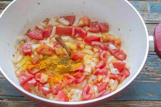 Step 2 zuppa di pollo indiana