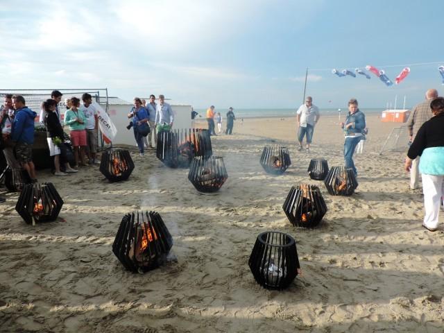 Bracieri sulla spiaggia