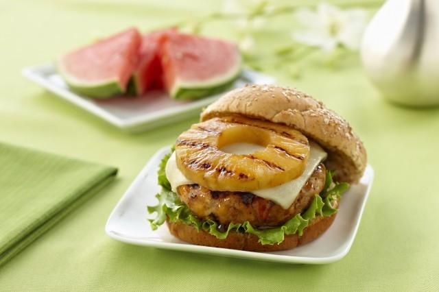 hamburger con ananas