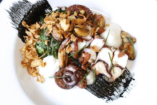 insalata di mare e nero di seppia