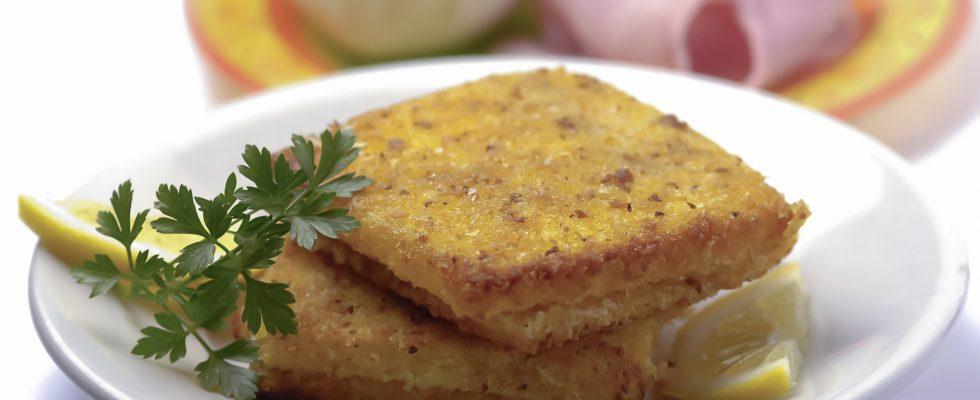 La mozzarella in carrozza con la ricetta senza uova