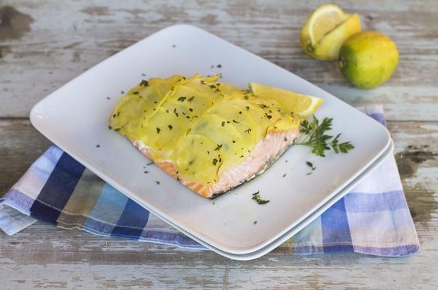 salmone in crosta di patate2