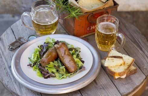 Salsicce alla birra: secondo ricco