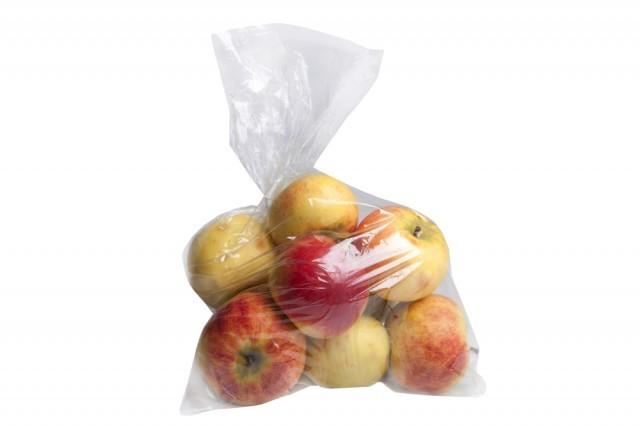 mele in sacchetto di plastica