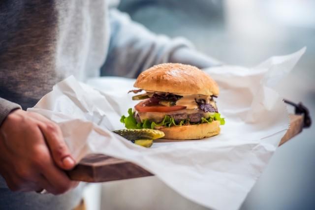 hamburger sul vassoio