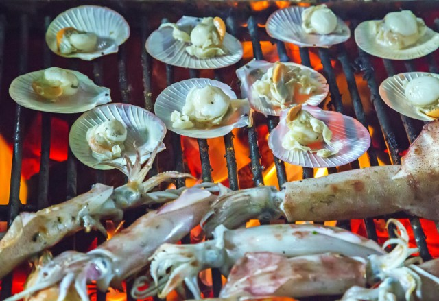 Molluschi alla griglia